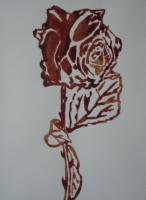 AIDS blood on paper 170x230mm